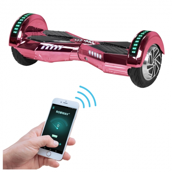 E-Balance Hoverboard ROBWAY W2 700 Watt Farbe pink-chrom
